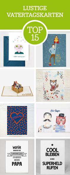Witzige Grußkarten zum Vatertag: Wir zeigen Dir unsere liebsten Vatertagskarten, für Papa / funny giftcards for Father's Day via DaWanda.com