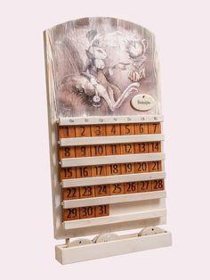 Вечный календарь, настенный календарь, деревянный календарь, уф печать, необычный сувенир