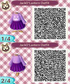 Jack O' Lantern Outfit More Halloween stuff here. Animal Crossing Memes, Animal Crossing Qr Codes Clothes, Skull Sweater, Ac New Leaf, Folk, Halloween Dress, Halloween Stuff, Coding, Ideas