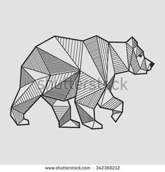 bear geometric - Google Search More