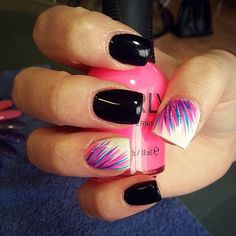 Instagram photo of acrylic nails by hheather_nails