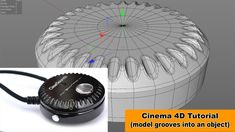 Grooves into an object (Cinema 4D Tutorial)