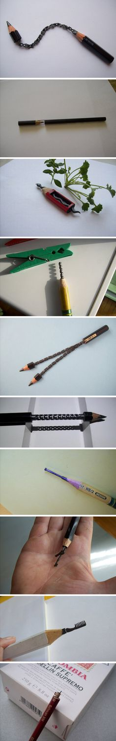 Pencil carvings. I'd love to own something like these. Somedays, i can't even get a pencil sharpener to work. This artist is magnificently talented.