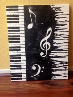 Klavier Melted Wachsmalstift Kunst von CrayonGogh auf Etsy
