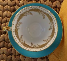 Refill please! Aynsley corsetted teacup and saucer. Visit FabVintageMustHaves at Etsy.
