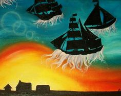 """Ships Out Of Water"" by Manuela Muminovic, www.moneysart.blogspot.com"