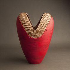 Red Heart: Hannie Goldgewicht: Ceramic Vessel - Artful Home