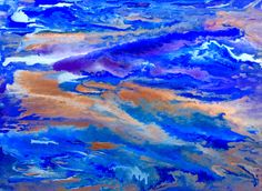 """Abstract Art - """"Crosscurrents"""" - Abstract Acrylic by Lorraine Skala - Please visit my Etsy Shop"""