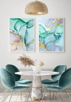 Living Room Decor, Bedroom Decor, Glam Bedroom, Tattoo Watercolor, Watercolor Trees, Watercolor Animals, Watercolor Background, Watercolor Landscape, Abstract Watercolor