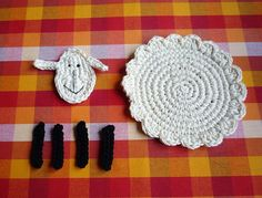 Crochet Sheep Coasters Pattern DIY от MonikaDesign на Etsy