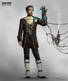 Iron Man version steampunk - Andres Parada #02