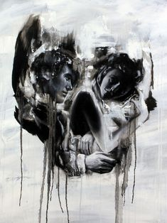 Tom French's acrylic works often depict couples in seemingly amorous relationships that create the optical illusion of a skull, pieces that walk the line between beautiful and unsettling. Just squint or take a few steps back from your monitor for maximum effect.