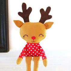 Reindeer Sewing Pattern Plush Toy Christmas Woodland PDF Sewing Pattern for Nursery Decor, Mantel or Bookshelf. $10,00, via Etsy.