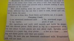 Grandmas Vintage Recipes: OLD NEWSPAPER CLIPPING FOR CINNAMON CANDY