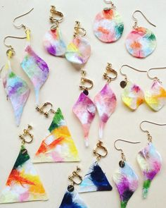 Textile Jewelry, Diy Earrings, Textiles, Cool Stuff, Crafts, Manualidades, Earrings Crafts, Handmade Crafts, Diy Crafts
