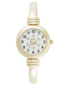 Charter Club Watch, Women's Gold Tone Bangle Bracelet 25mm - Women's Watches - Jewelry & Watches - Macy's