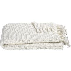 Crate & Barrel Open Weave Ivory Throw (325 UAH) ❤ liked on Polyvore featuring home, bed & bath, bedding, blankets, fillers, accessories, extra, ivory throw, cream bedding and cream throw blanket