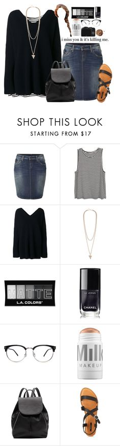 """""""Days In the Rain"""" by kind-at-heart ❤ liked on Polyvore featuring True Religion, STELLA McCARTNEY, Givenchy, L.A. Colors, Chanel, MILK MAKEUP, Witchery, CO and Forever 21"""