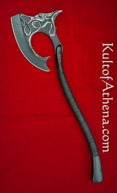 VS0125 - Game of Thrones - Euron Greyjoy's Axe - $239.95 Armor Concept, Weapon Concept Art, Swords And Daggers, Knives And Swords, Fantasy Armor, Fantasy Weapons, House Sigil, Martial Arts Styles, Viking Axe