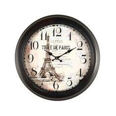Eiffel Tower Paris Decorative Wall Clock