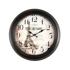 Eiffel Tower Paris Decorative Wall Clock
