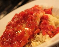 Easy Poached Fish with Tomatoes and Couscous Recipe