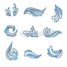 Water drop and splash eco icon vector set. Water drop and splash symbols eco ico , Water Drop Vector, Water Drop Logo, Water Logo, Web Design, Vector Design, Icon Design, Logo Design, Water Drop Quotes, Logo Massage