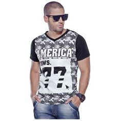 Camiseta Juvenil Para Hombre Marketing Personal 55985 Blanco Estampado