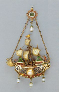 Probably eastern Mediterranean Pendant Shaped as a Ship, 17th/18th century (with later additions)