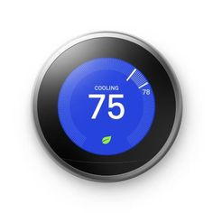 Now you can take control of your home's heating and cooling without lifting a finger thanks to the Google Nest 3rd Generation Smart Learning Thermostat. The Nest Leaf feature alerts you when you choose an energy-efficient temperature. The thermostat learns your habits and adjusts to automatically regulate you home's temperature based on your schedule. Color: Stainless Steel.