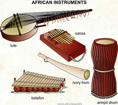 Nigerian instruments for music. All musical intruments used in Nigeria their looks and pictures.