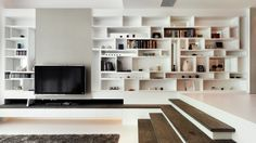 I love these shelves!  Note to self:  west wall in living room? (by S.I.D.Ltd)