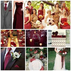 Fall is here! A little Burgundy Wedding Inspiration to start the morning off on a beautiful and romantic beat.  www.thismagicmomentweddingsale.com www.facebook.com/thismagicmomentweddingsale
