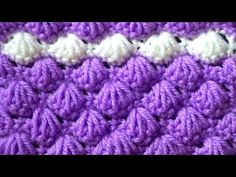 Узор Ракушки - YouTube Bobble Crochet, All Free Crochet, Filet Crochet, Diy Crochet, Knitting Stitches, Knitting Patterns, 3d Pattern, Crochet Videos, Crochet Stitches