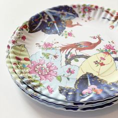 Tobacco Leaf Melamine Plates, Set of 4 – Biscuit Home Masquerade Centerpieces, Wedding Centerpieces, Biscuit Home, Staffordshire Dog, Bright Decor, Chinoiserie Chic, Flower Bouquet Wedding, Bridal Bouquets, Plate Sets