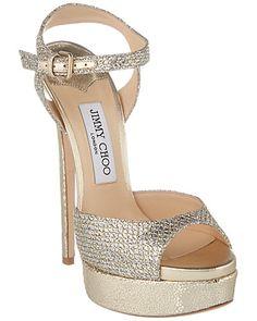 Rue La La — Jimmy Choo Jenna 150 Glitter Heeled Sandal