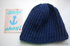 easy and fun to make crochet hat for men #tichtach