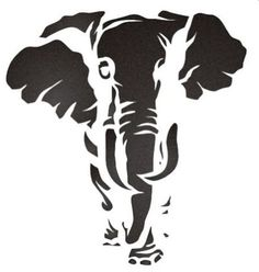 Elephant Stencil - Cliparts.co