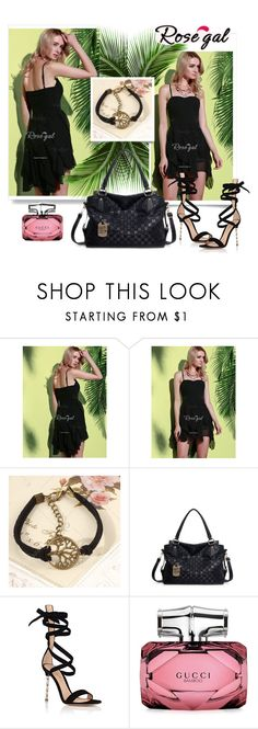"""""""Women's Dress"""" by fashionb-784 ❤ liked on Polyvore featuring Gianvito Rossi, Gucci, vintage, fashionable and rosegal"""