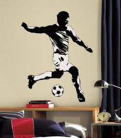 soccer bedrooms | ... Boys Room Decorating Ideas Soccer Wall Murals Design for Boys Bedroom