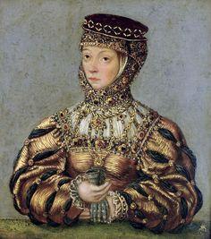 Lucas Cranach the Younger, Portrait of Barbara Radziwiłł (c. 1565).