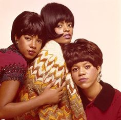 The Supremes Mary Wilson, Diana Ross, and Florence Ballard.