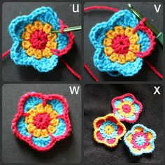 Five petalled flower step by step tutorial