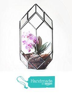 Large Geometric Tower Terrarium / Handmade Glass Terrarium / Modern Planter for Indoor Gardening / Geometric Orchid Planter from Waen http://www.amazon.com/dp/B015FUUFSG/ref=hnd_sw_r_pi_dp_zVhhwb00J3VAV #handmadeatamazon