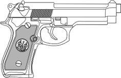 Pistol Outline clip art