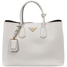 Prada Saffiano Leather Tote ($1,675) ❤ liked on Polyvore