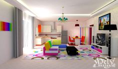 Colorful Living Room by melyani.deviantart.com on @deviantART
