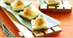 Sweet & Sour Caramelized Maui Onion and Goat Cheese Tartlet