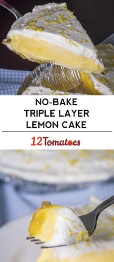 No-Bake Triple Layer Lemon Pie