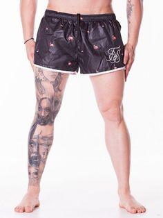 Pantaloni scurti Flamingo de baie negri Casual Shorts, Gym Shorts Womens, Interior Design, Flamingo, Fashion, Nest Design, Flamingo Bird, Moda, Home Interior Design